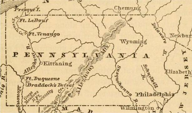 Pennsylvania Map Colonial Times